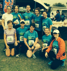 CE Broker participates in the Corporate 5K. Team name-- Not Fast, Just Furious.