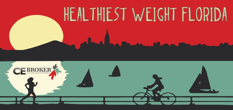 CE Broker is happy to be participating in the Surgeon General's Healthiest Weight Initiative. Let's get healthy, Florida.