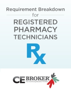 CE Broker breaks down the requirements for Registered Pharmacy Technicians.