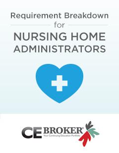 Option 1 nursing home administrator