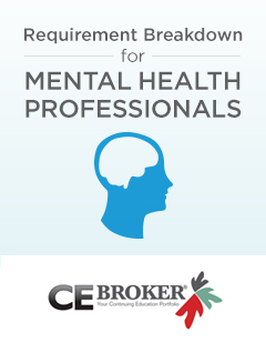Requirement breakdown for Florida Mental Health Professionals