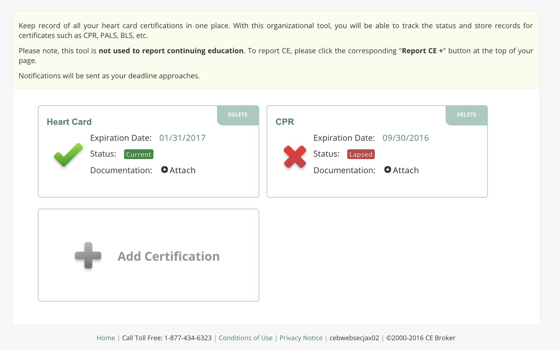 Ce broker support tracking for other licenses certif view all tracked certificates xflitez Images