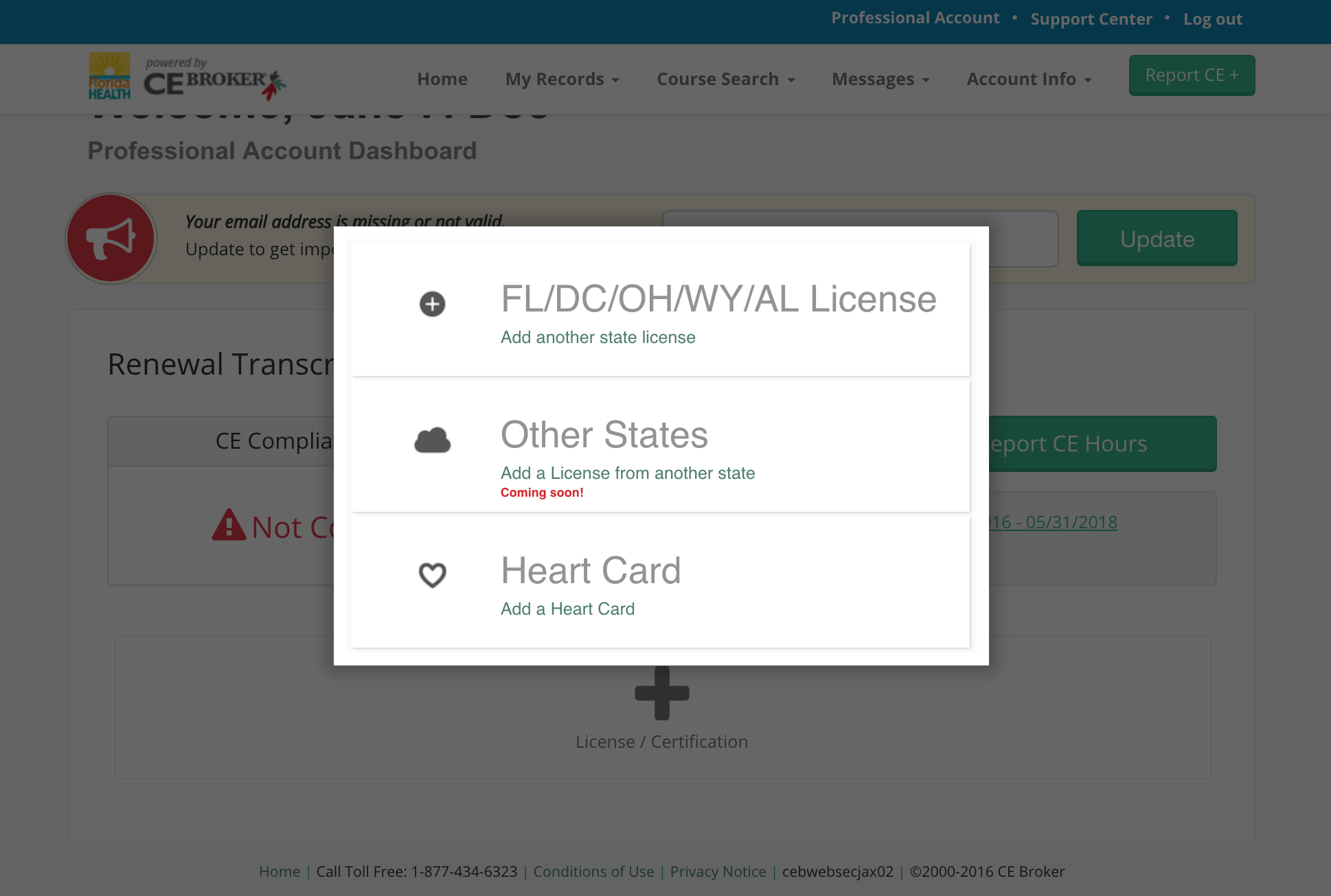 How do i store digital files such as heart cards ce broker once you add your licensecertification youll be taken to an overview of your certifications that are being tracked you can add a new certification by xflitez Choice Image